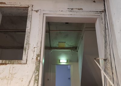 Treppe in die erste Etage