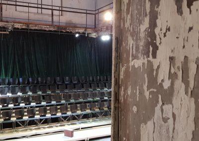 Sicht auf Innenraum Orgelfabrik mit Bestuhlung